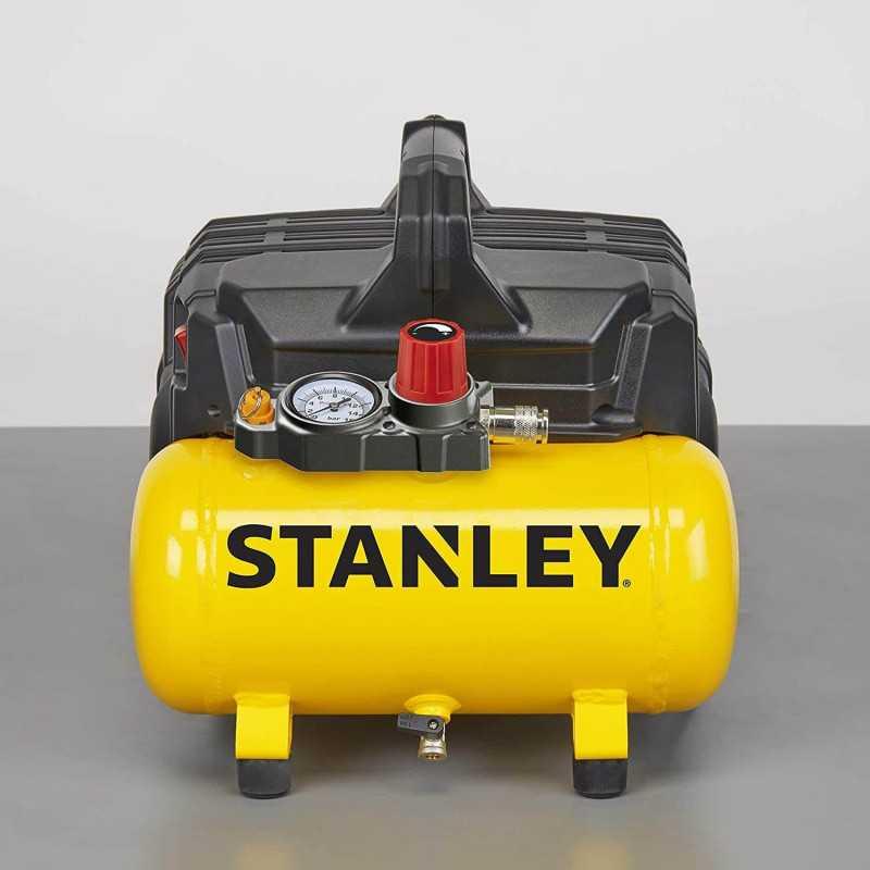 Compresor de Aire Monofásico Silencioso 6L 1HP 116PSI DST 100/8/6 Stanley 24730005