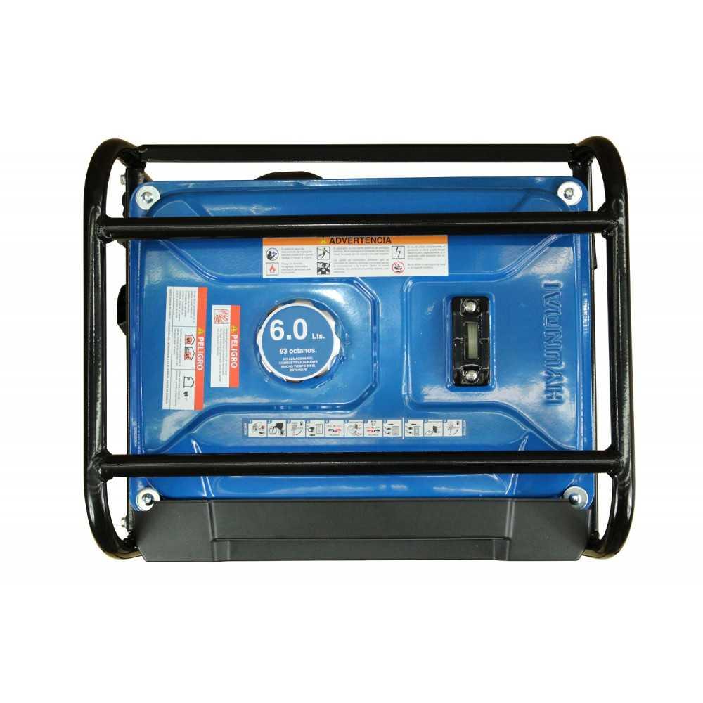 Generador Eléctrico Gasolina 0,9/1 Kva/Kw Partida manual monofásico Abierto HYUNDAI 82HYG1500