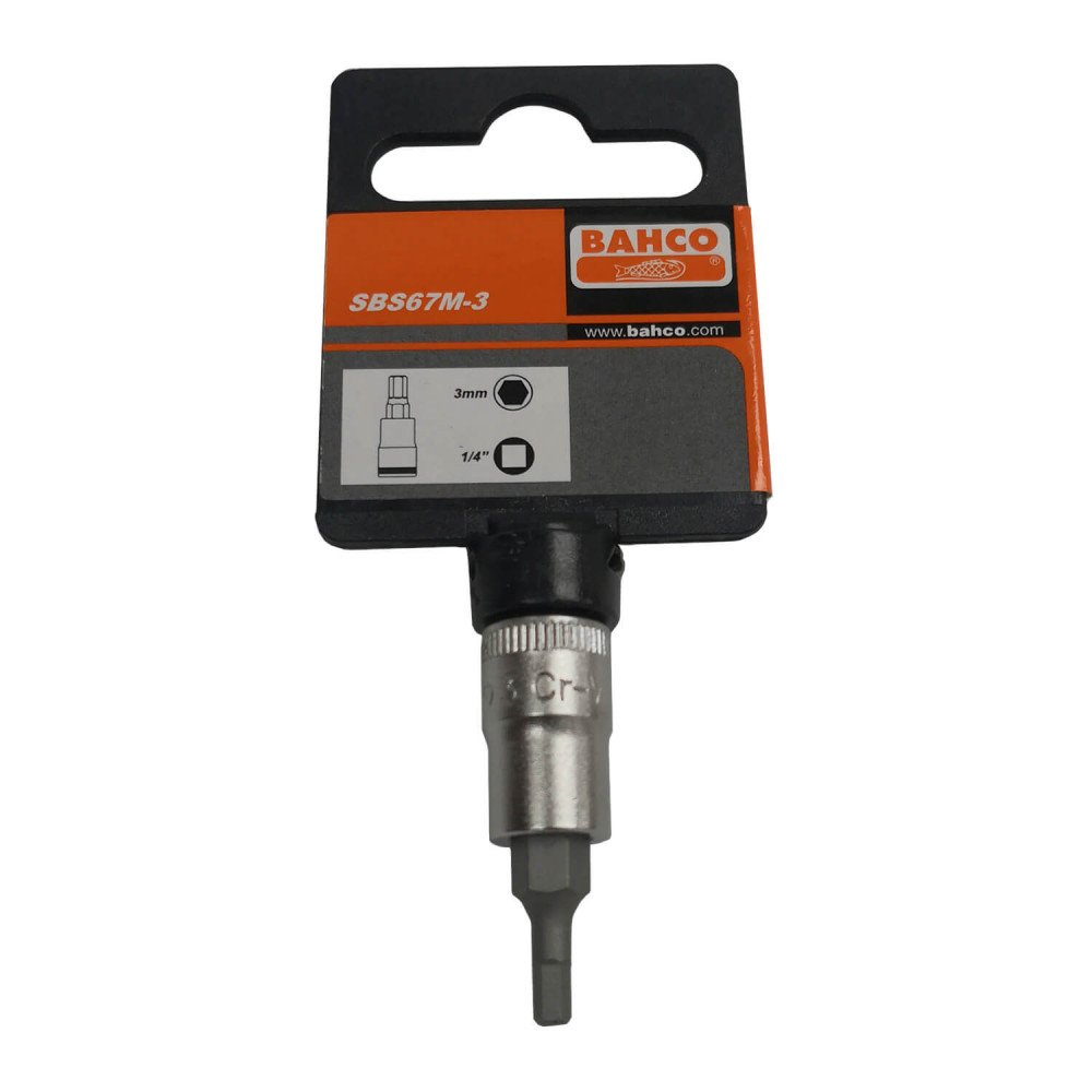 "Dado 1/4"" CON PUNTA HEXAGONAL 3 MM Bahco SBS67M-3"