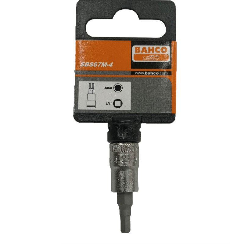 "Dado 1/4"" CON PUNTA HEXAGONAL 4MM Bahco SBS67M-4"
