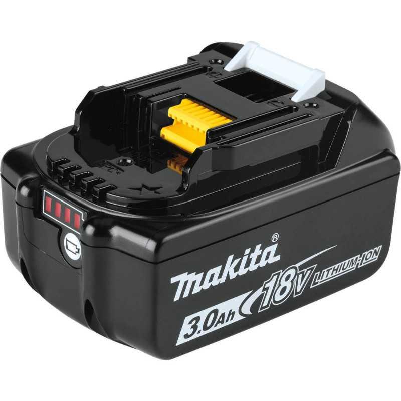 Chaqueta Térmica Amarilla Talla L 18V+ Batería 18V 3Ah BL1830B + Cargador DC18SD Makita DCJ206ZL-2