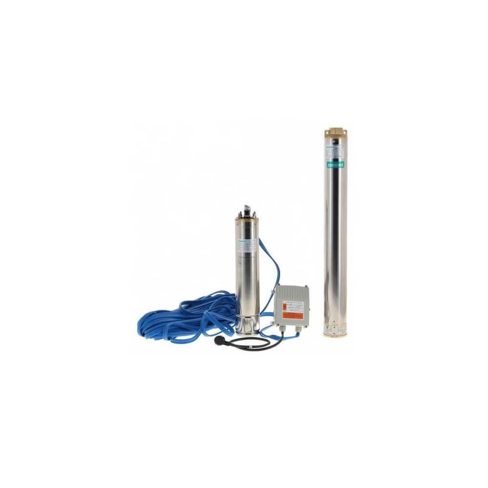 "Bomba de Agua Sumergible Pozo Profundo 4"" 1.5HP 4SGM6/9 Shimge 103011495"