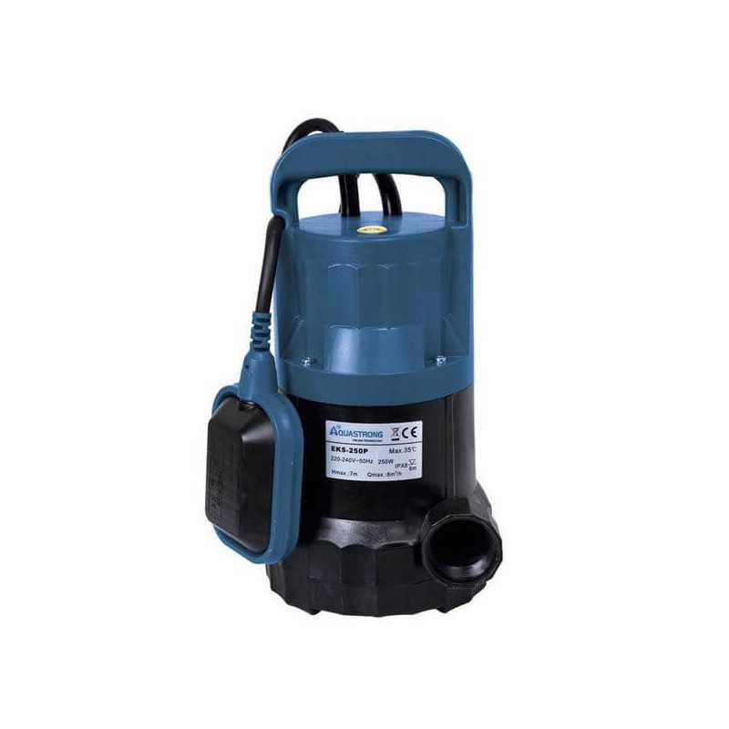 Bomba de Agua Sumergible Para Aguas Limpias 0.3 HP 220 V 50HZ AQUASTRONG EKS250P
