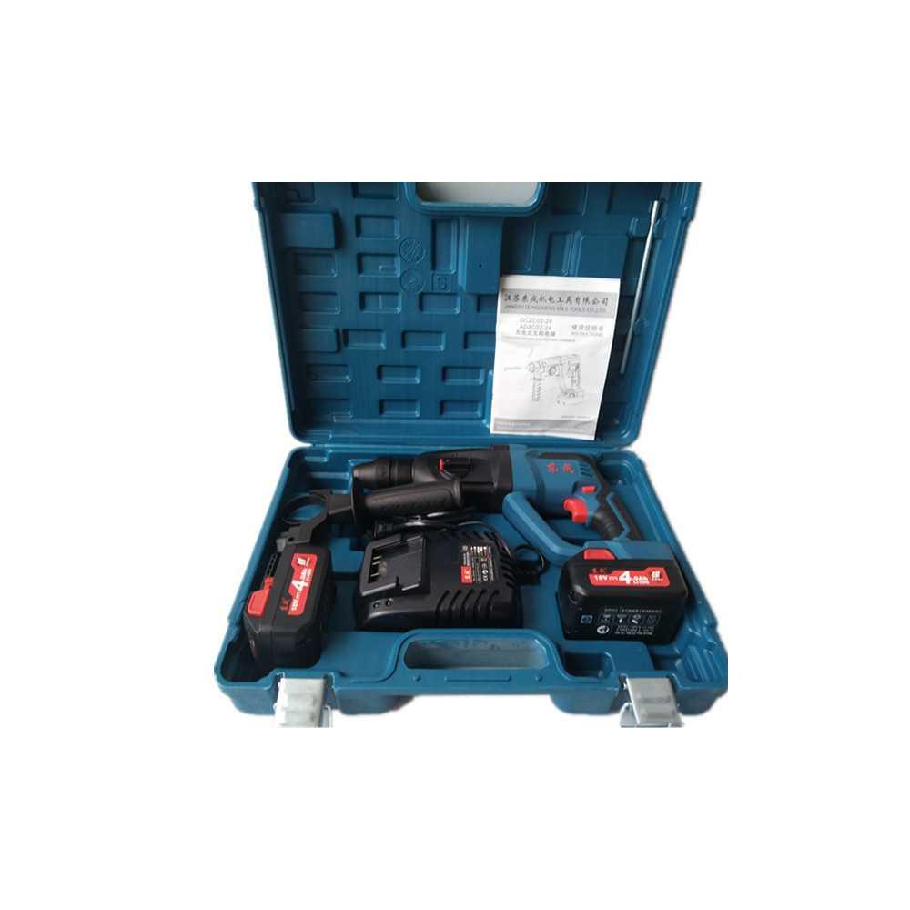 Rotomartillo Inalámbrico SDS-PLUS 24 MM 18 V + Baterías + Cargador. DONGCHENG DCZC02-24E