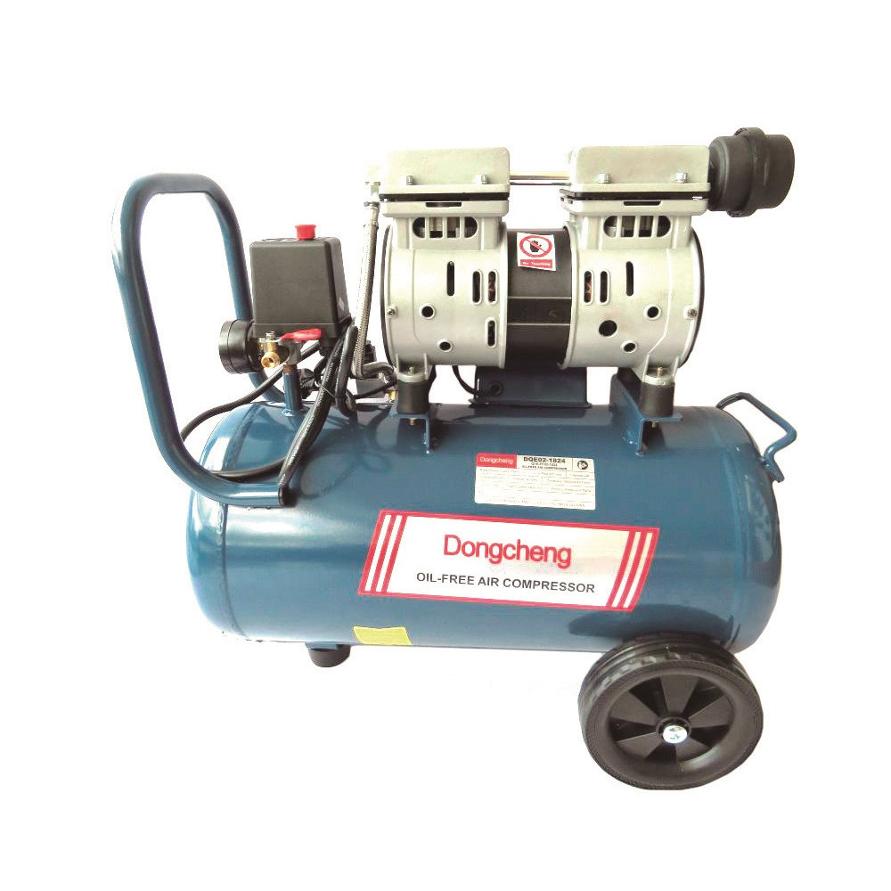 Compresor libre de aceite 800 W - 7 BAR - 24 L. DONGCHENG DQE02-1824