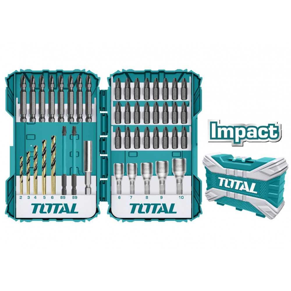 Juego de Puntas y Brocas de impacto 45 piezas. Total Tools TACSDL24502
