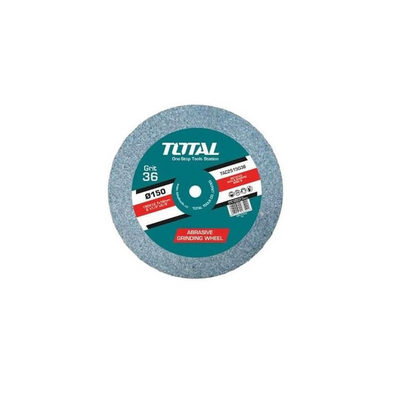 Disco Piedra Abrasiva para Esmeril de Banco GR36 150x12.7x16MM. Total Tools TAC25150361