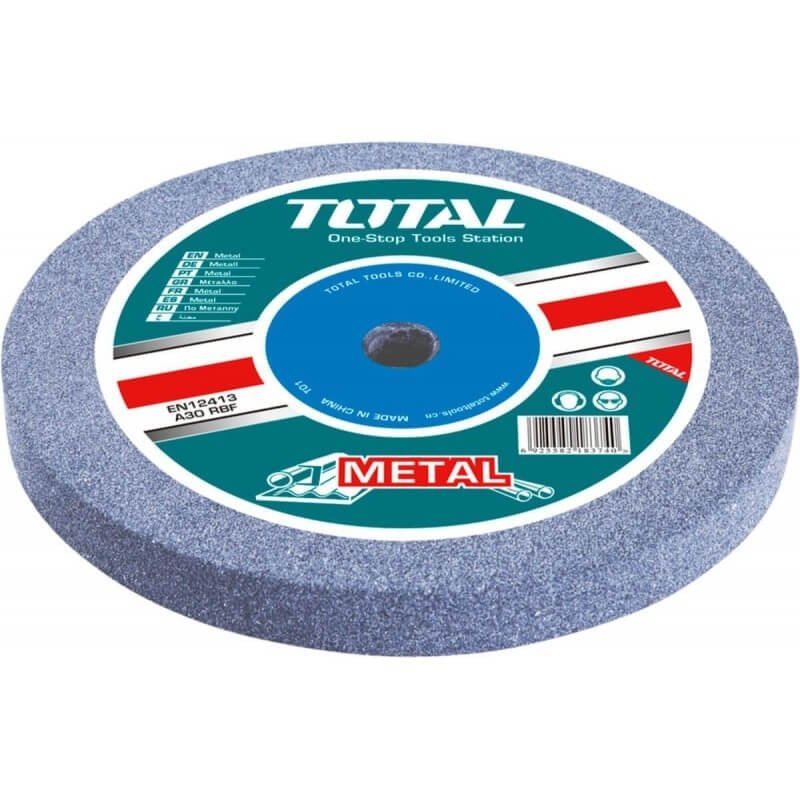 Disco Piedra Abrasiva para Esmeril de Banco GR.36 200x16x20MM. Total Tools TAC25200361