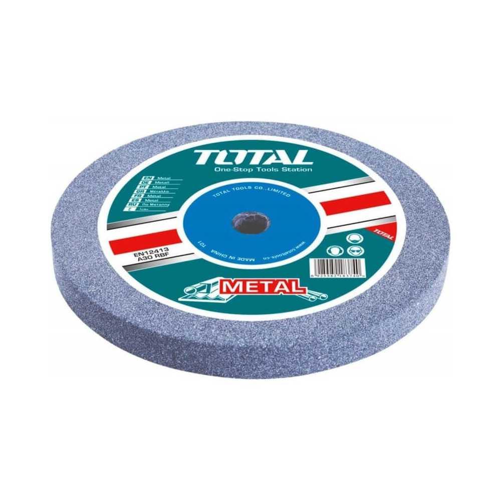 Disco Piedra Abrasiva para Esmeril de Banco GR.80 200x16x20MM. Total Tools TAC25200801