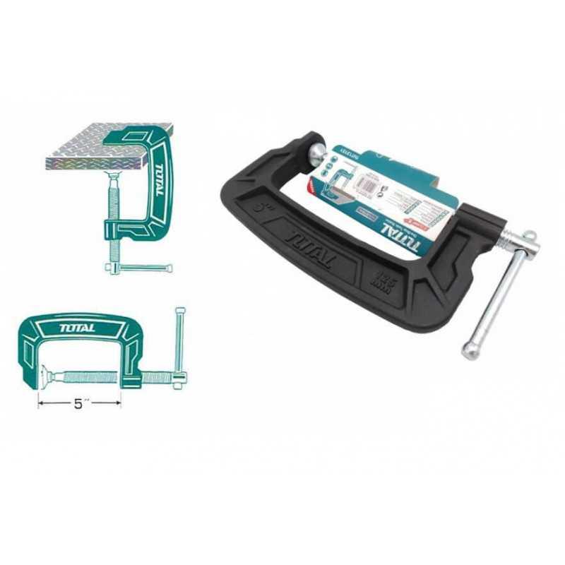 "Prensa Tipo C 5"" (150MM). Total Tools THT13151"