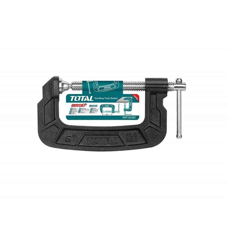 "Prensa Tipo C 6"" (150mm). Total Tools THT13161"