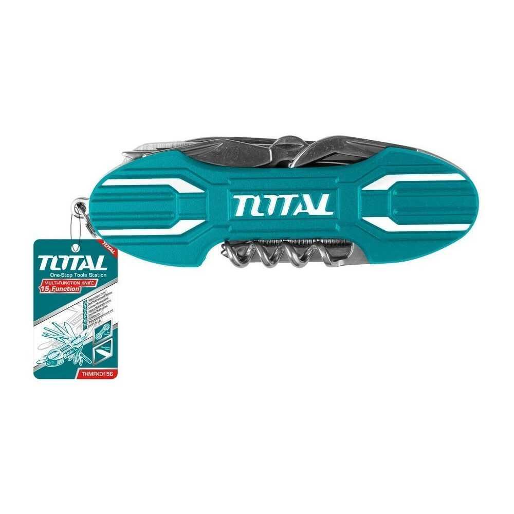 Cortapluma Multiuso 15F 9.5 cm. Total Tools THMFK0156