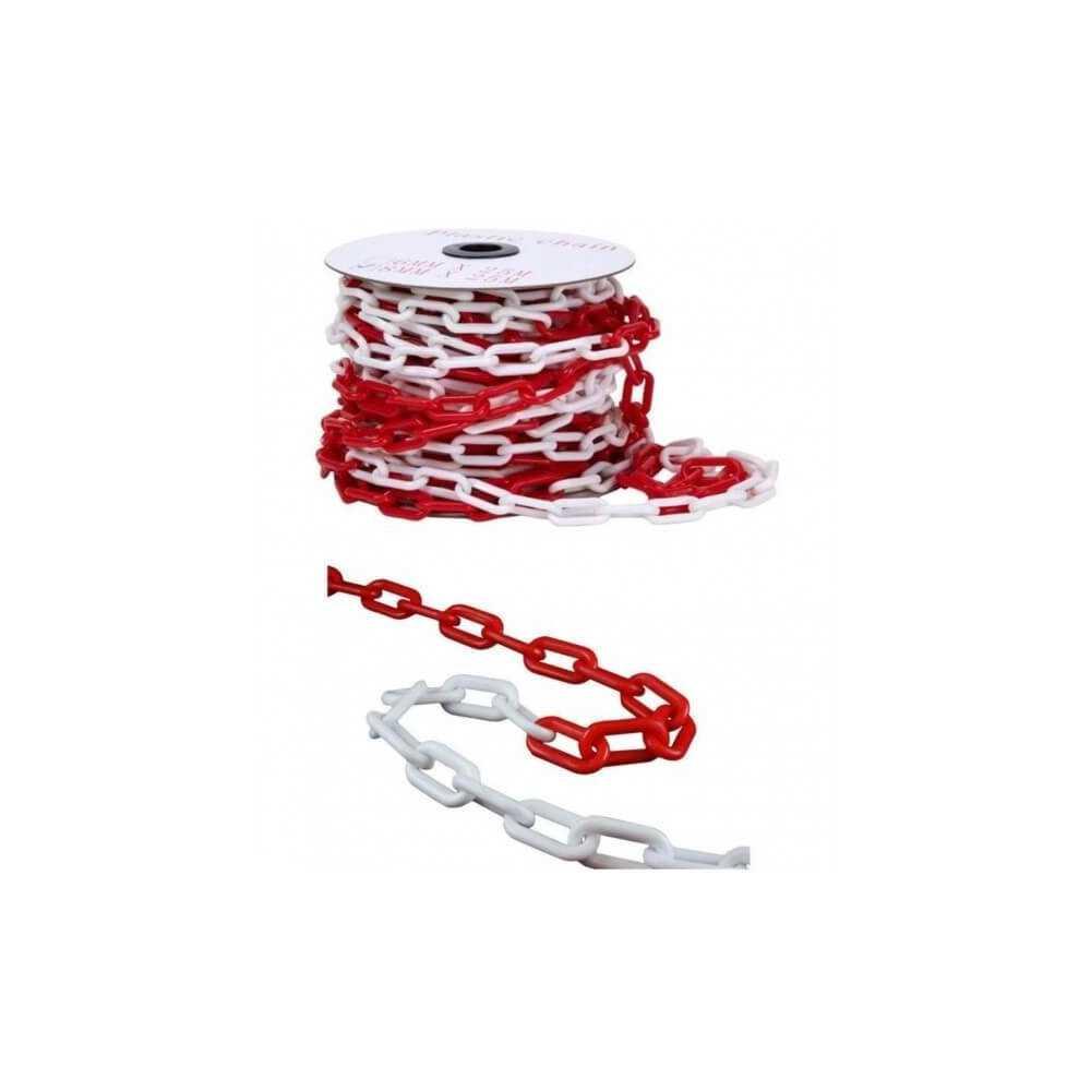 Cadena Plástica 50 MT Bicolor Roja/Blanca. Kupfer 140080