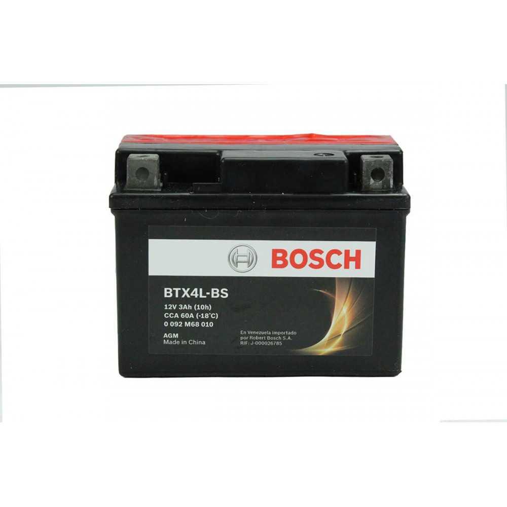 Batería de Moto 12V 3Ah Positivo Derecho M6 Bosch 39BTX4L-BS
