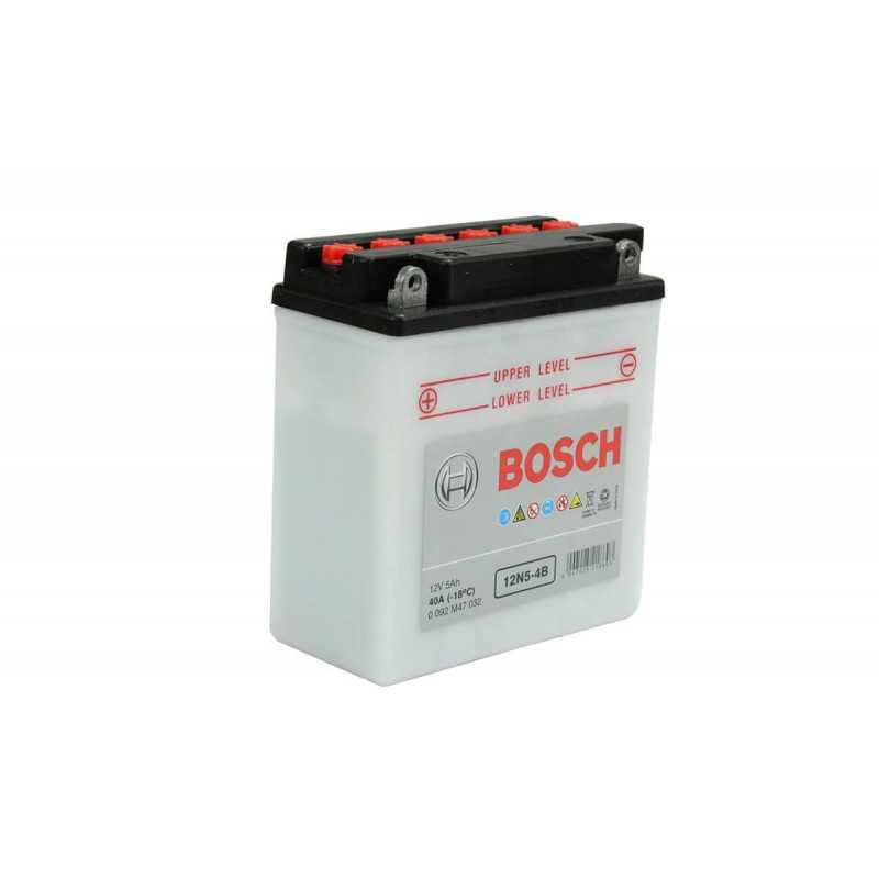 Batería de Moto 12V 5Ah Positivo Izquierdo M4 Bosch 3912N5-4B