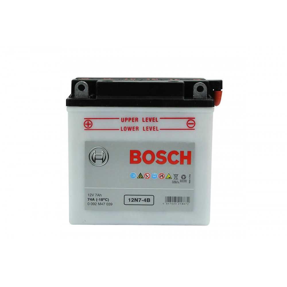 Batería de Moto 12V 7Ah Positivo Izquierdo M4 Bosch 3912N7B-4B