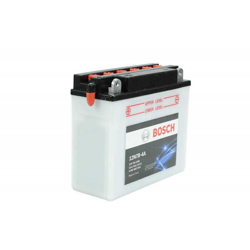 Batería de Moto 12V 7Ah Positivo Izquierdo M4 Bosch 3912N7B-4A