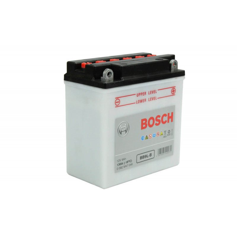 Batería de Moto 12V 9Ah Positivo Derecho M4 Bosch 39BB9L-B