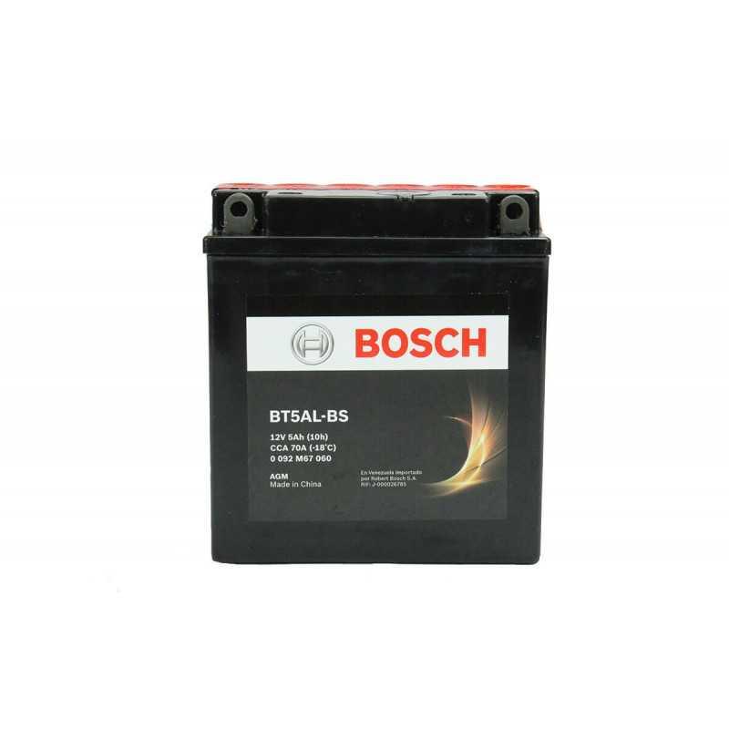 Batería de Moto 12V 5Ah Positivo Derecho M6 Bosch 39BT5AL-BS