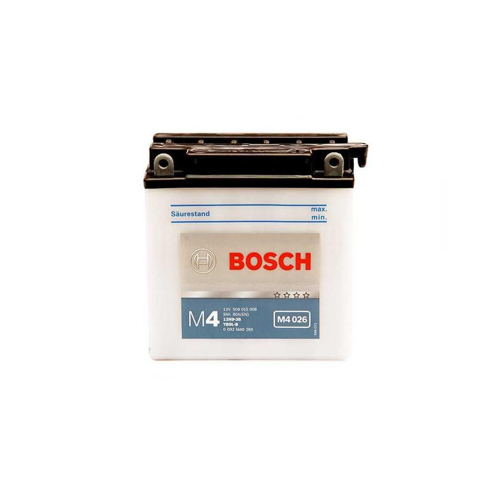 Batería de Moto 12V 9Ah Positivo Derecho M4 Bosch 3912N9-3B