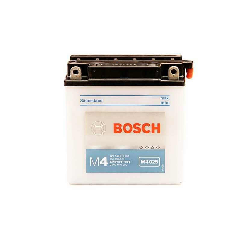 Batería de Moto 12V 9Ah Positivo Izquierdo M4 Bosch 3912N9-4B-1