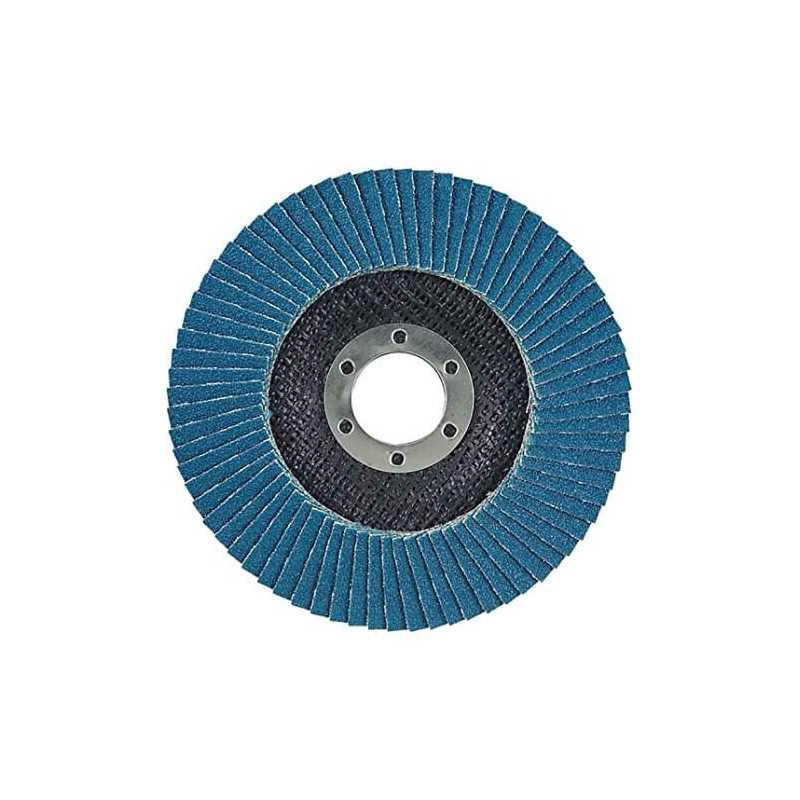 Disco Flap 180x22.23mm Grano 120 Zircón / Metal y Acero Inoxidable Makita D-27567