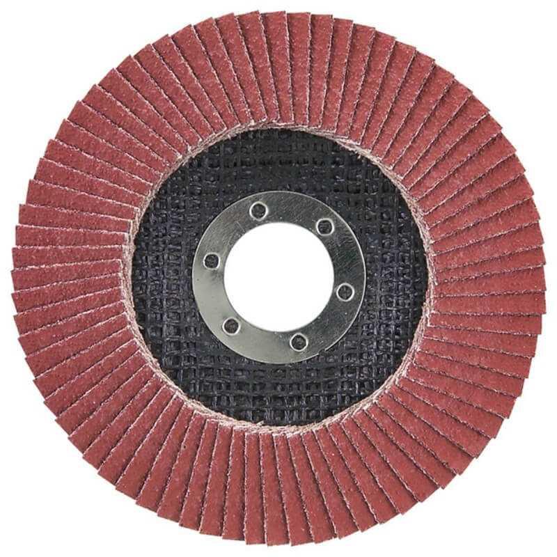 Disco Flap 180x22.23mm Grano 80 Ce / Metal y Acero Inox. Ángulo Makita D-28391