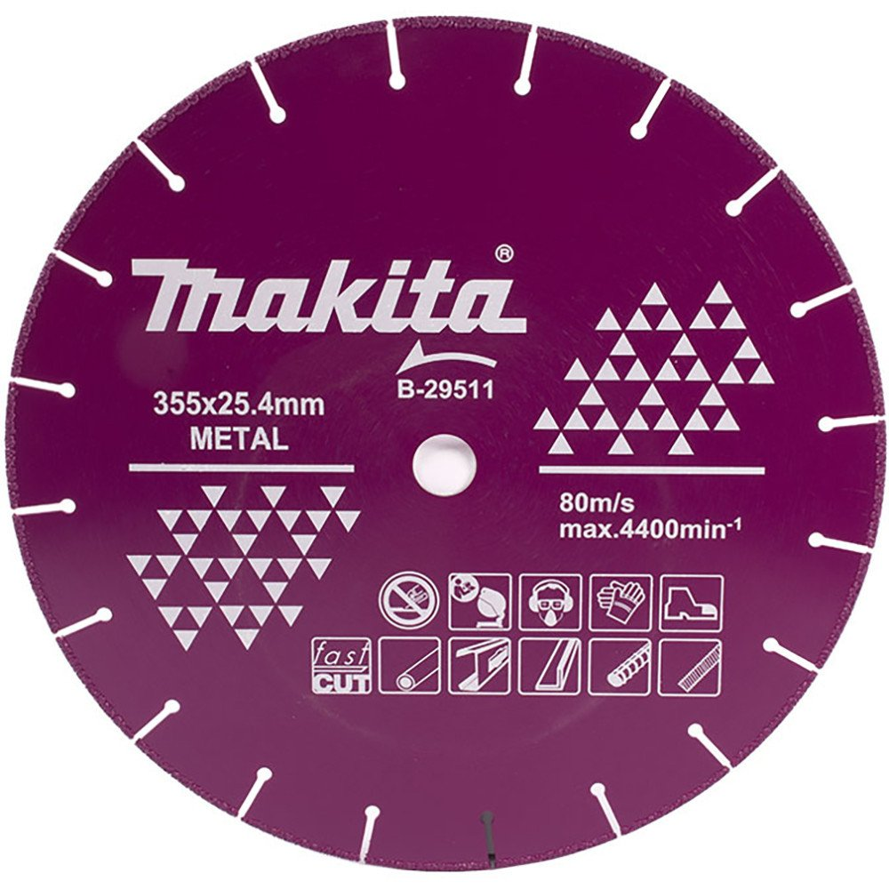 "Disco Diamantado Corte Metal 14"" (355x25.4mm) Larga Vida Makita B-29511"
