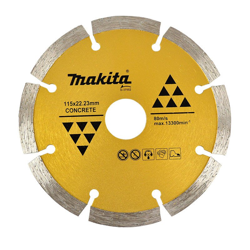 Disco Diamantado Segmentado 115x22.23mm / Seco / Concreto Makita D-37552