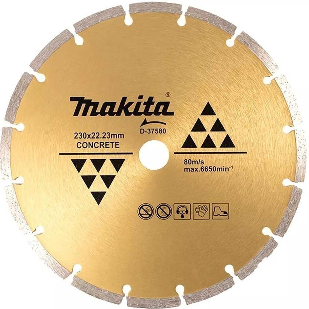 Disco Diamantado Segmentado 230x22.23mm / Seco / Concreto Makita D-37580