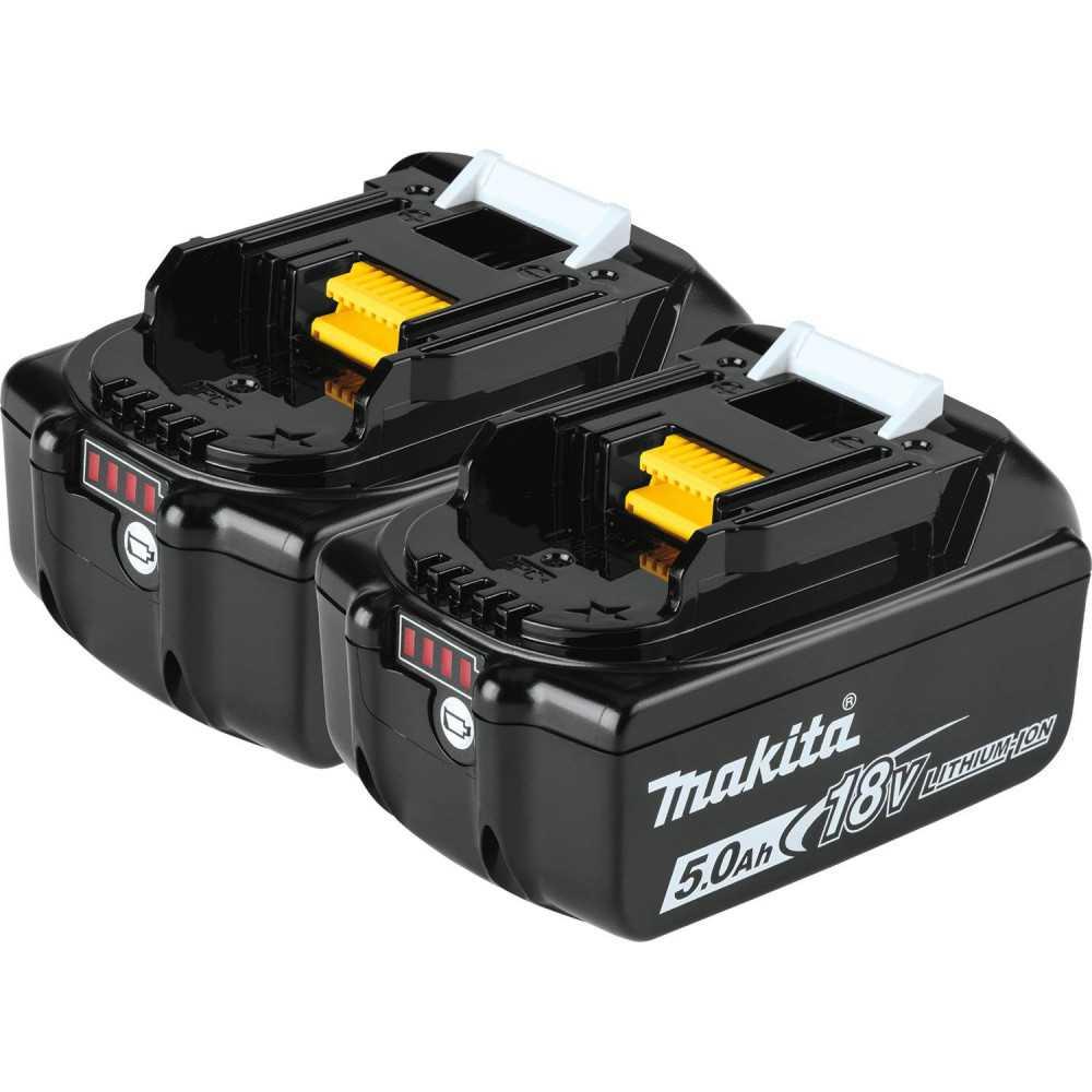 Kit Cargador 18V DC18RC + 2 Baterías 18V 5Ah BL1850B + Makpac Makita 197624-2