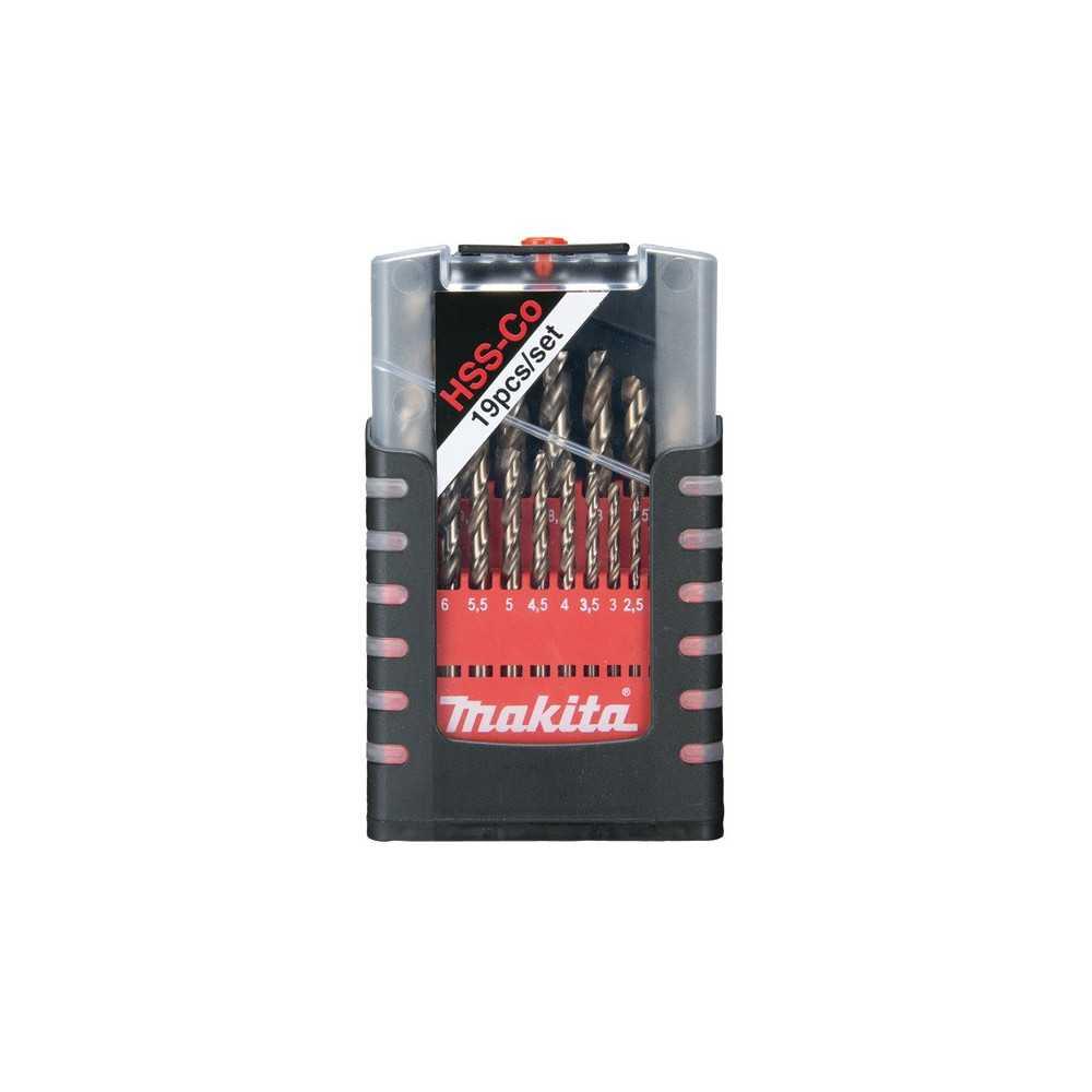Set Brocas Metal HSS-Cobalto 1-10mm 19 Pzs Makita D-50463