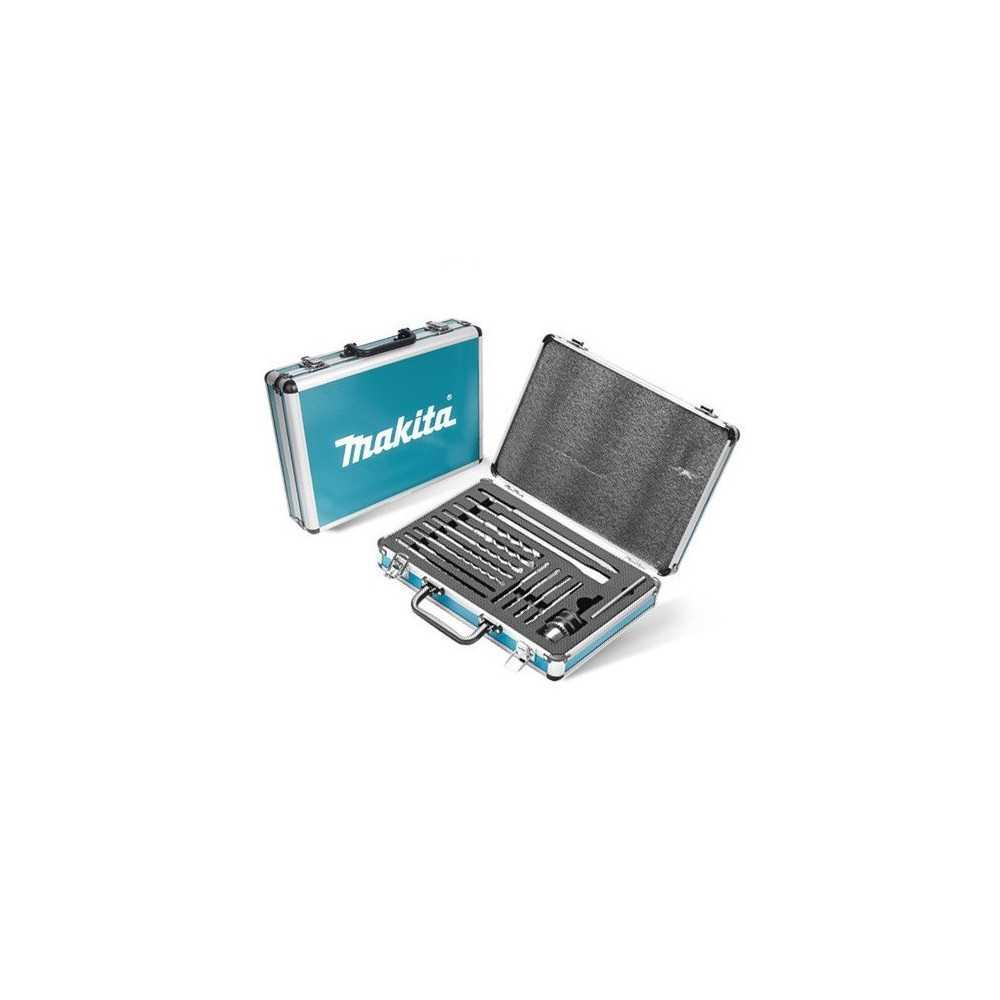 Set Accesorios 14 Unidades 1 Punto+1 Cincel+11 Brocas+Mandril 13mm+Adapt.C/Llave+Caja Makita D-71174