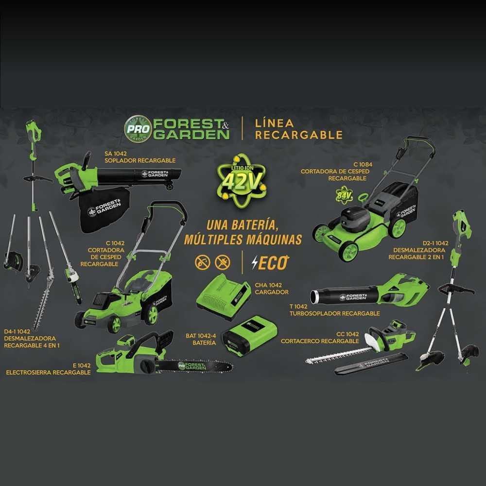 Orilladora Inalámbrica 250mm BDR 725/42 + + Batería 42V 4Ah + Cargador Forest And Garden MI-FYG-054126