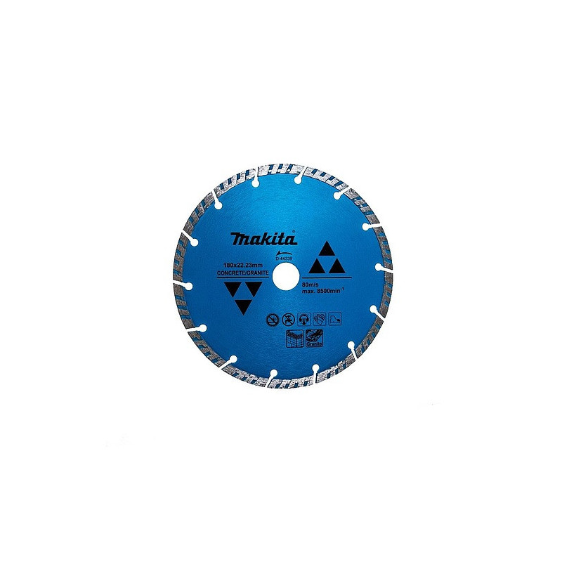 "Disco Diamantado Turbo Segmentado Para Concreto 7"" 180x22.23MM Makita D-44339"