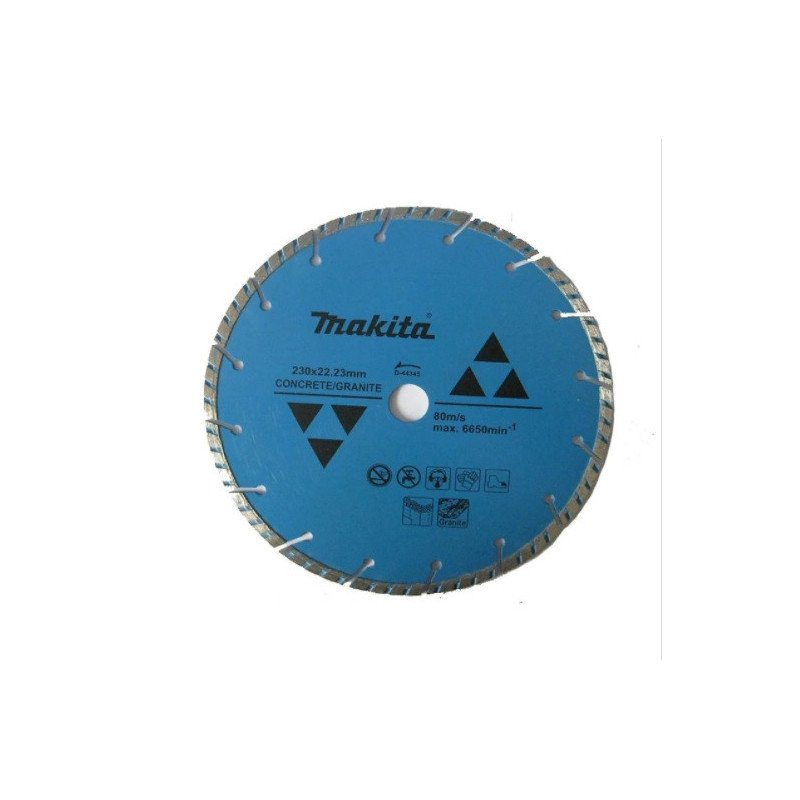 "Disco Diamantado Turbo Segmentado 9"" 230mmx22.23MM para Concreto Makita D-44345"