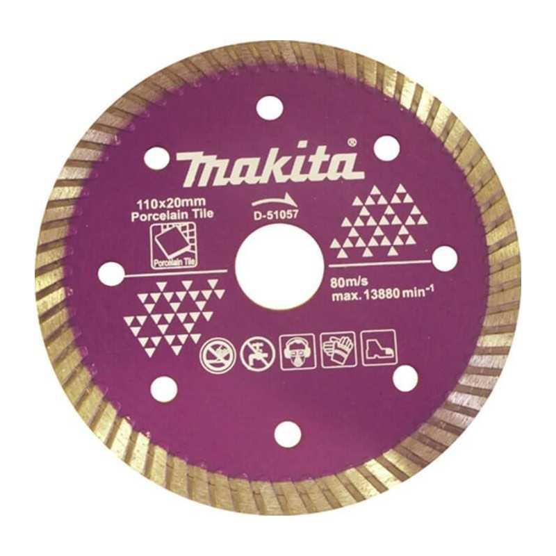 Disco Diamantado 110x20MM para Porcelanato Makita D-51057