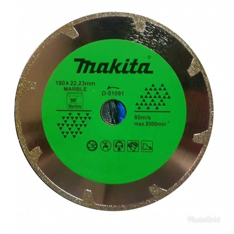 Disco Diamantado Electrochapado 180x22.23MM para Mármol Makita D-51091