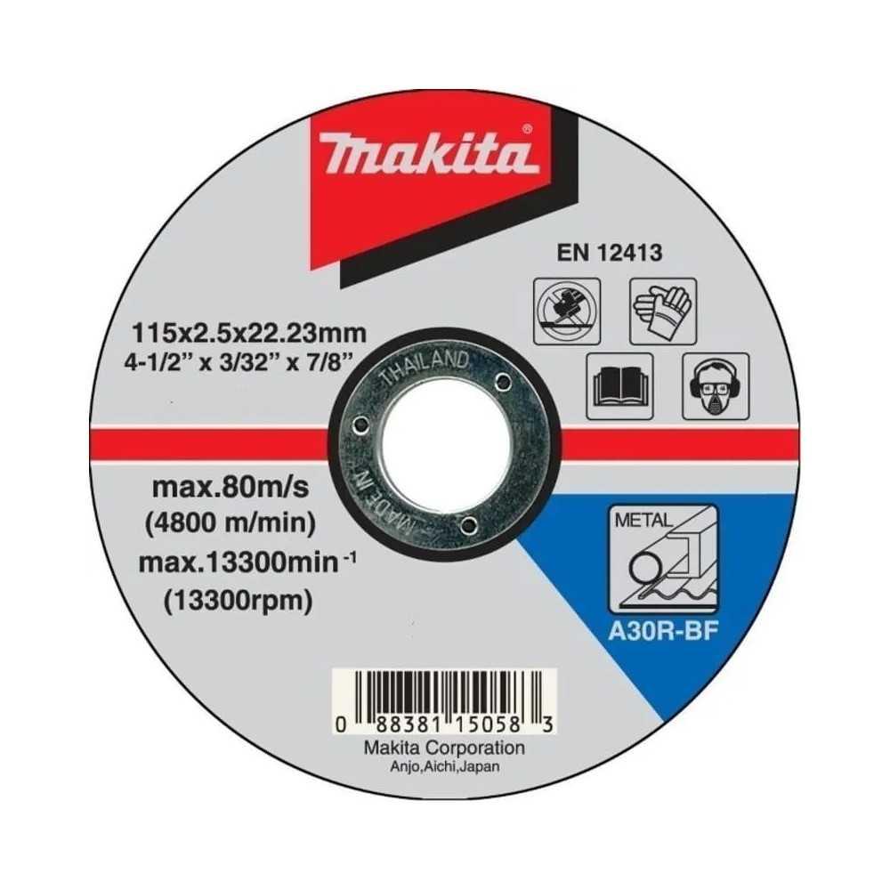 Disco Corte Metal 115x2.5x22.23 MM A30R-BF Makita B-46408