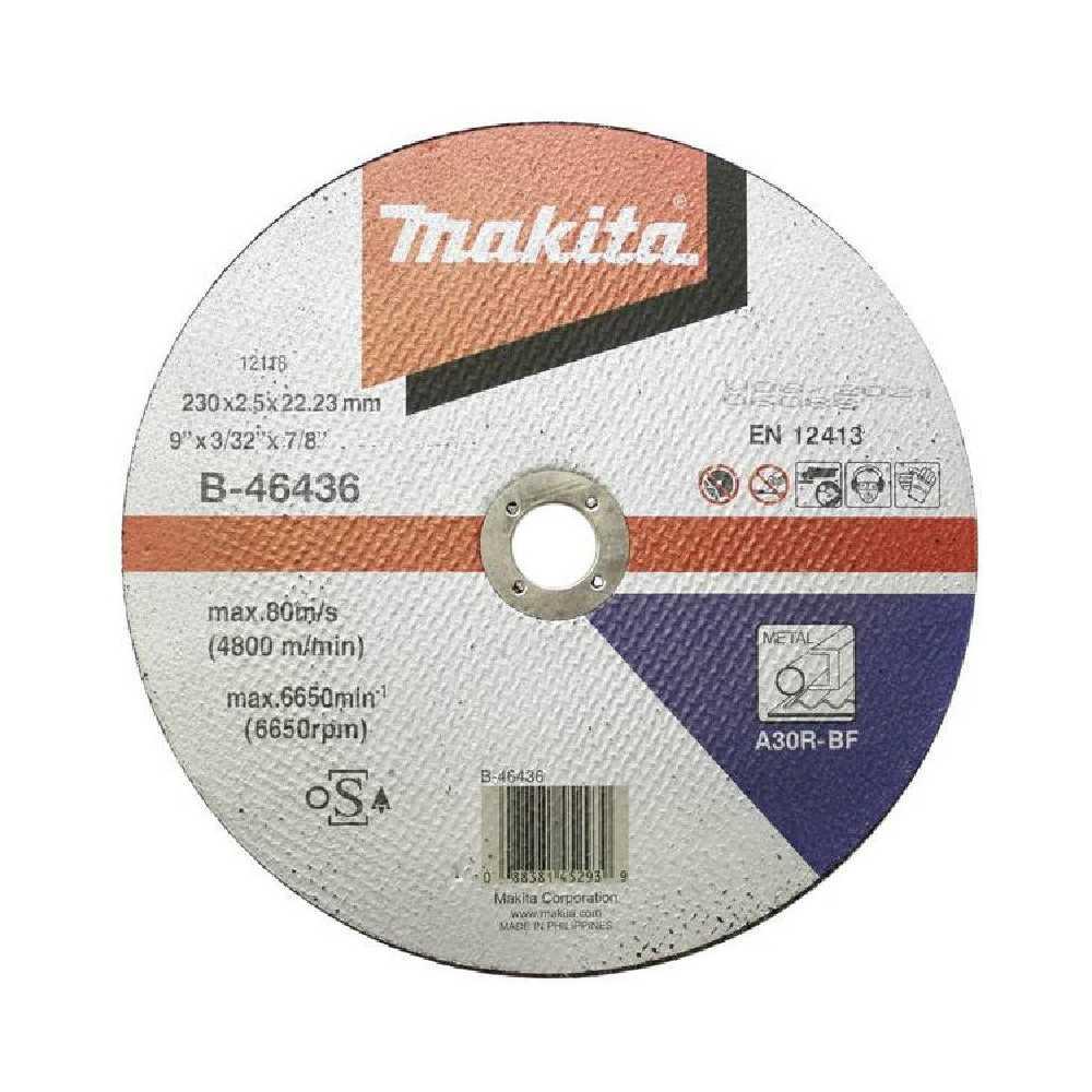 Disco Corte Metal 230x2.5x22.23MM A30R-BF Makita B-46436