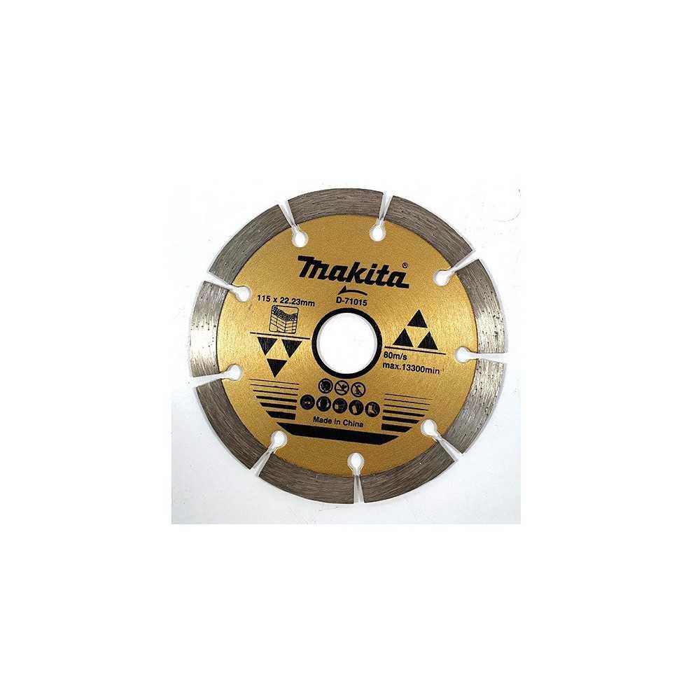 "Disco Diamantado Segmentado 4-1/2"" /115X22.23MM Para Concreto. Makita D-71015"
