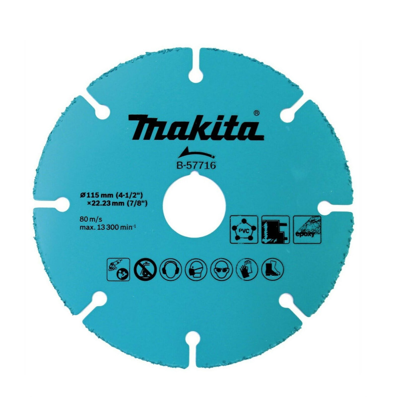 """Disco de Grano Carburo 4-1/2"""" /115x1.0x22.23mm HM Makita B-57716"""
