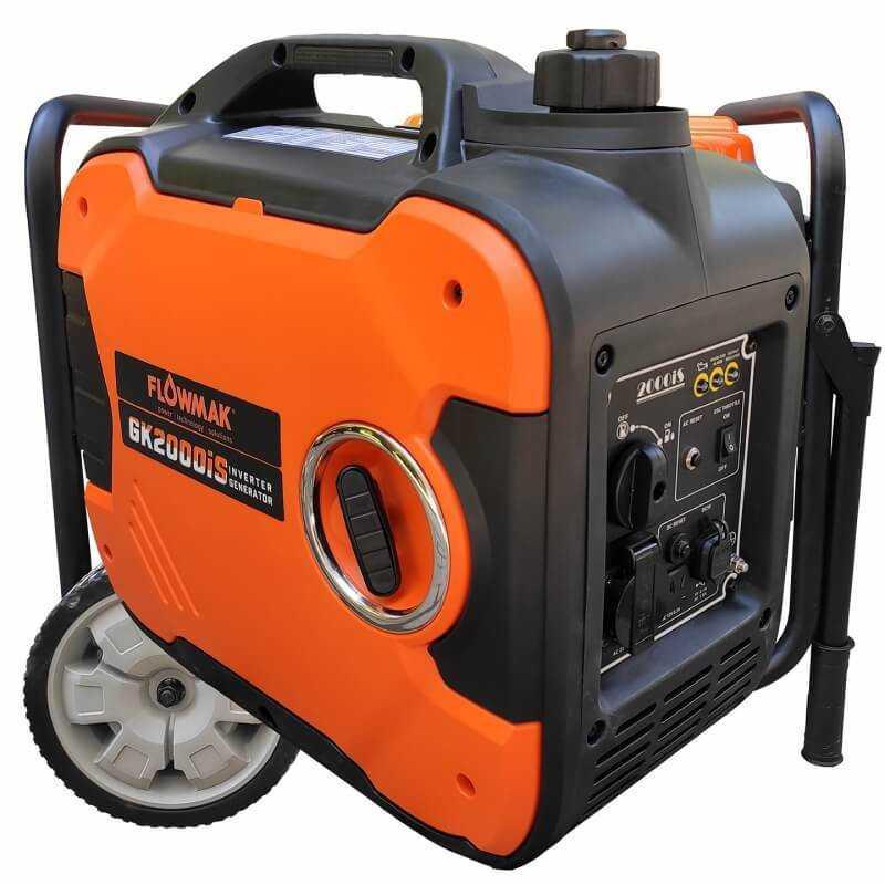 Generador Eléctrico Gasolina 220V 1800W GK2000iS Inverter Insonorizado Flowmak 109253