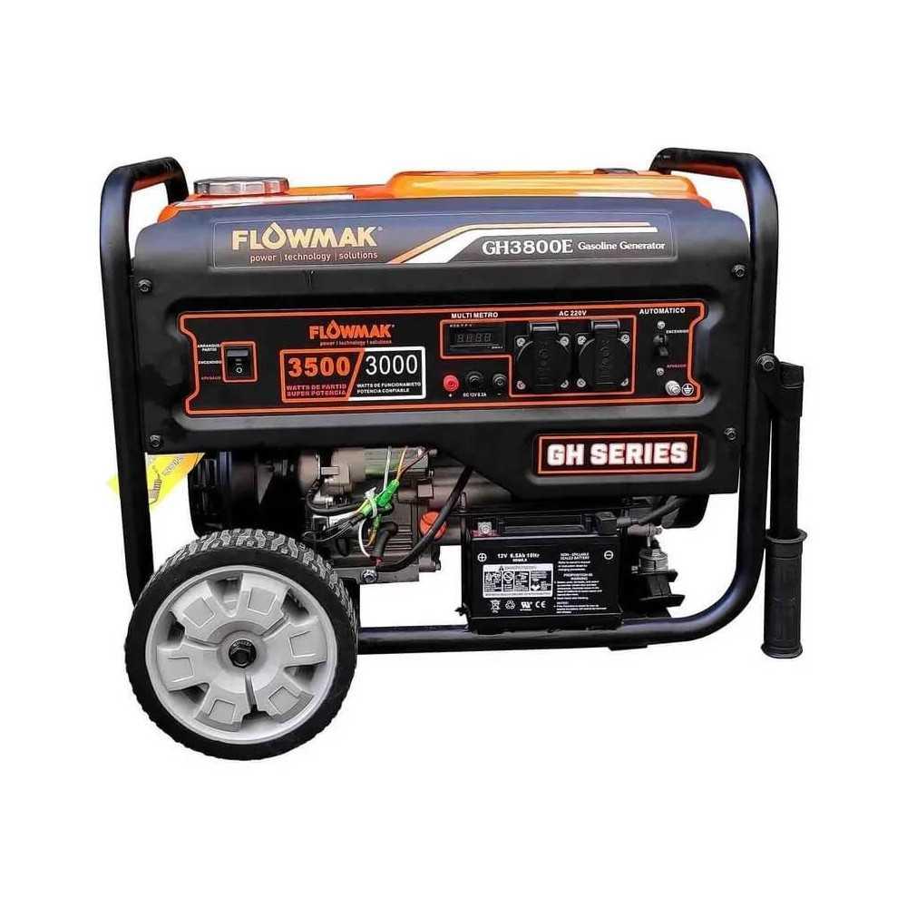 Generador Eléctrico Gasolina 220V 3300W GH3800E Flowmak 109259