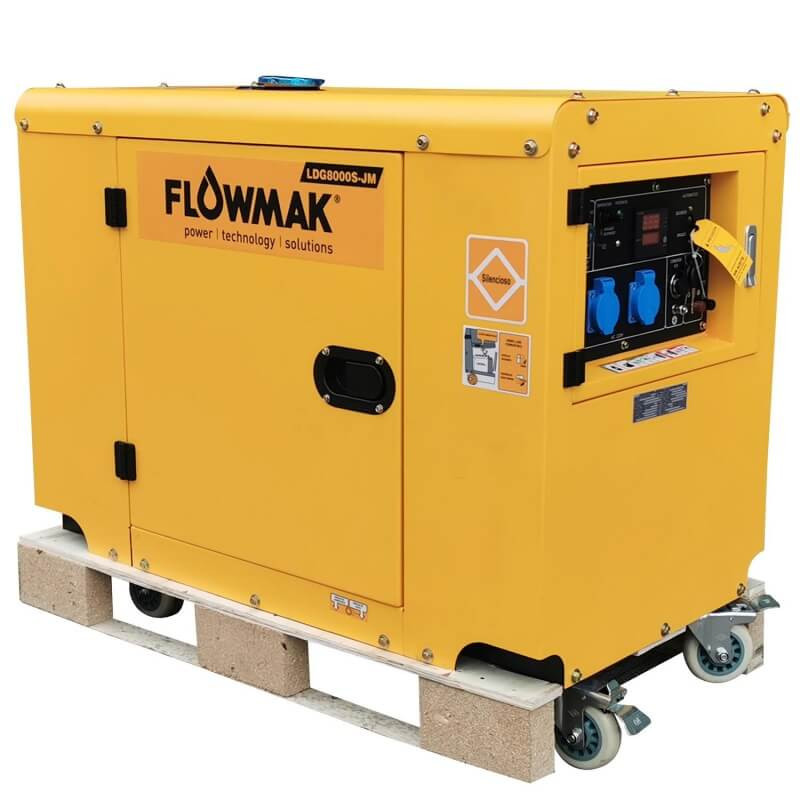Generador Eléctrico Diésel 220V 6000W LDG8000S-JM Flowmak 109231