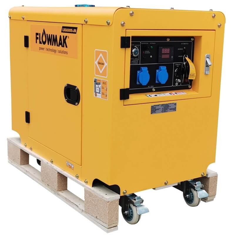 Generador Eléctrico Diésel 220V 5000W LDG6500S JM Flowmak 109239