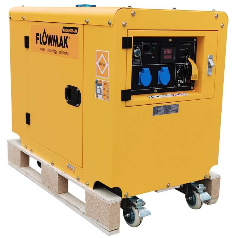 Generador Eléctrico Diésel 220V 5000W LDG6500S-JM ATS Flowmak 109240