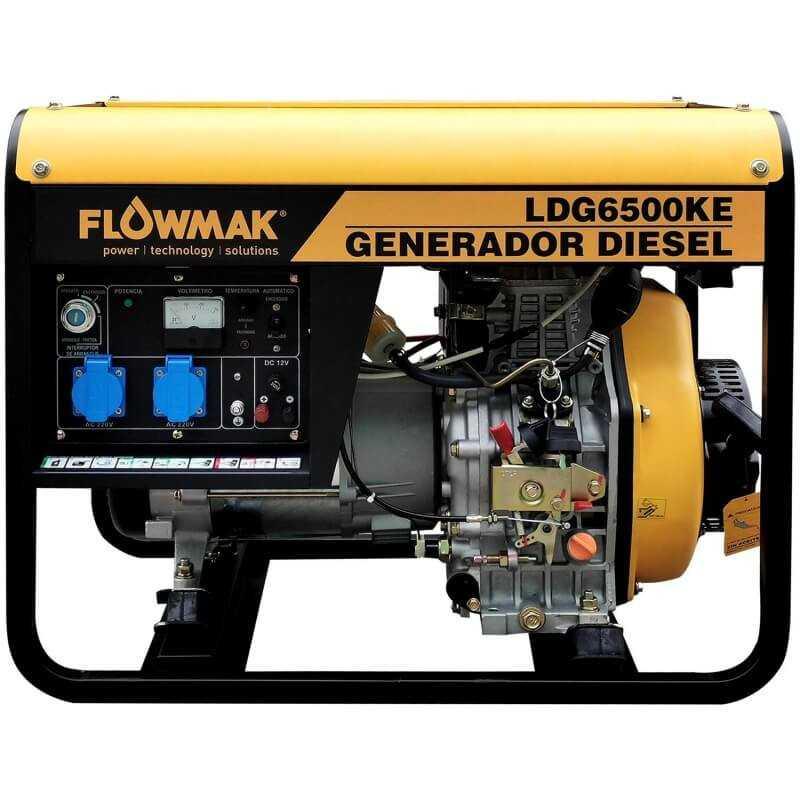 Generador Eléctrico Diésel 220V 5000W LDG6500KE Flowmak 109241