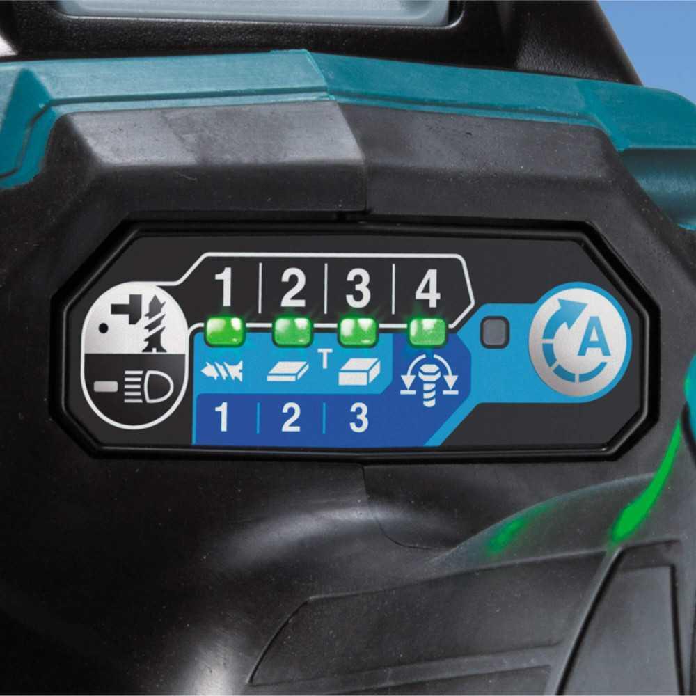 """Atornillador de Impacto Inalámbrico 1/4"""" 40V+ 2 Baterías 2.5Ah 40V+ Cargador XGT 40Vmax + Maleta Makita TD001GD201"""