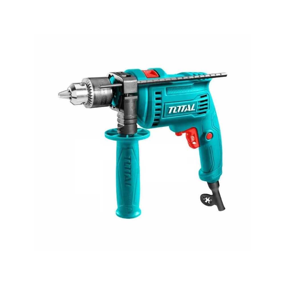 Taladro Percutor 13mm 680W Velocidad variable, Taladrado/reversa, Función de martillo Total Tools TG1061356